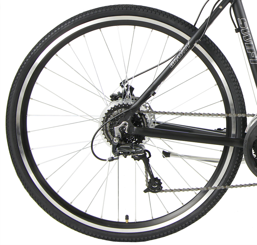 SWIFT PRO - 24sp SHIMANO ALUMINUM ADVENTURE HYBRID w/DISC