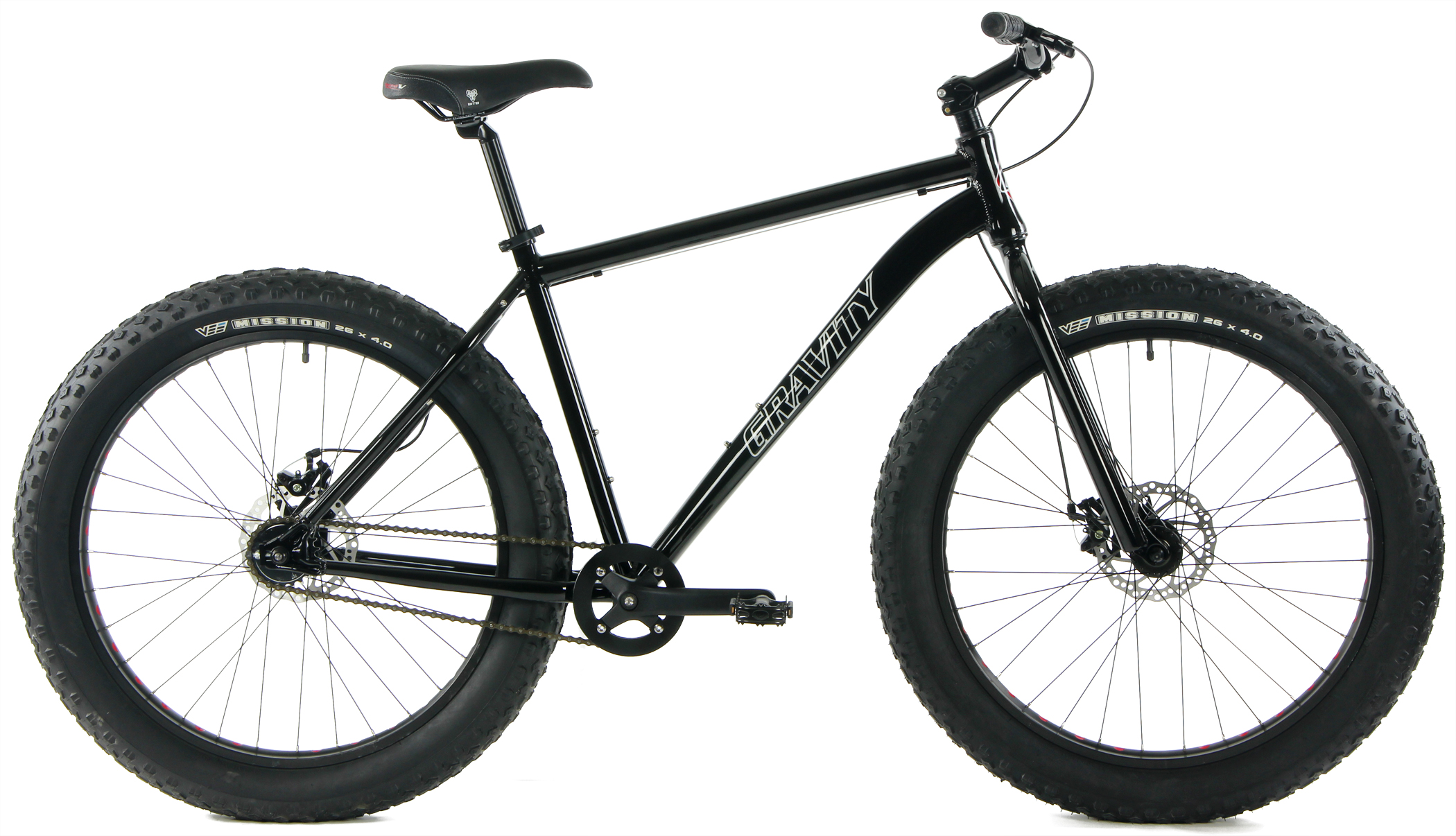 DEADEYE MONSTER - FAT TIRE SINGLE SPEED MOUNTAIN BIKE w/ DISC BRAKES