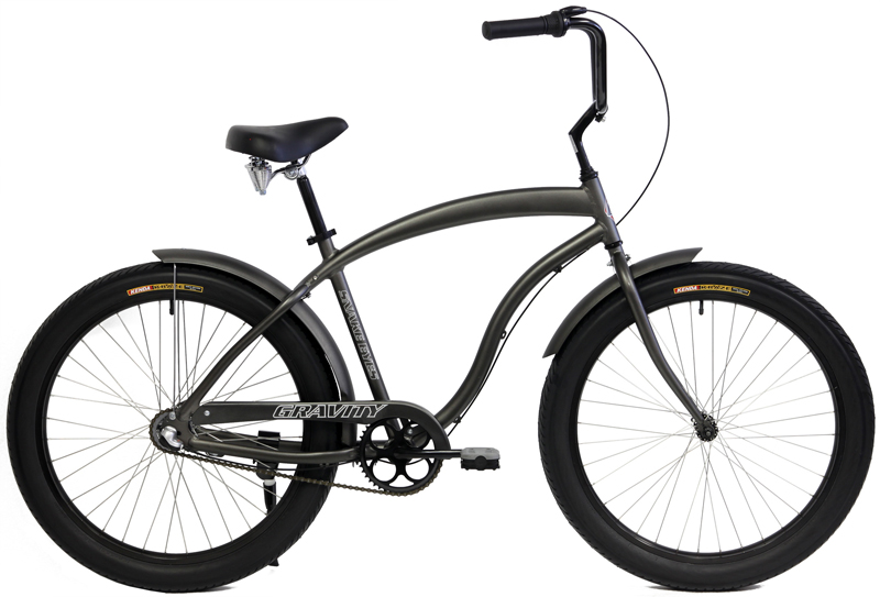 SNAKE EYES 3 - ALUMINUM 3sp COMFORT CRUISER w/ FAT TIRES