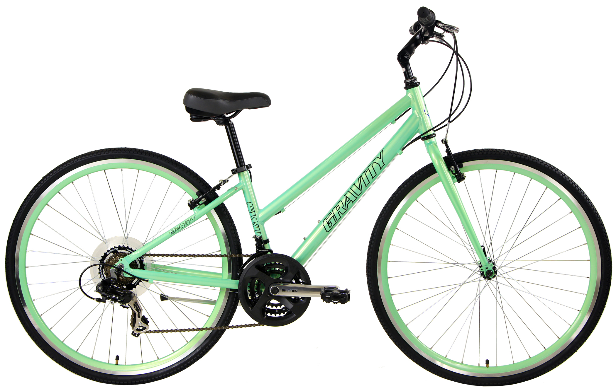SWIFT 21 LTD - 21sp SHIMANO ALUMINUM ADVENTURE HYBRID BIKE