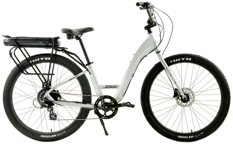 X-ROD eBIKE - LADIES eBIKE HYBRID w/ 27.5in WHEELS & DISC BRAKES