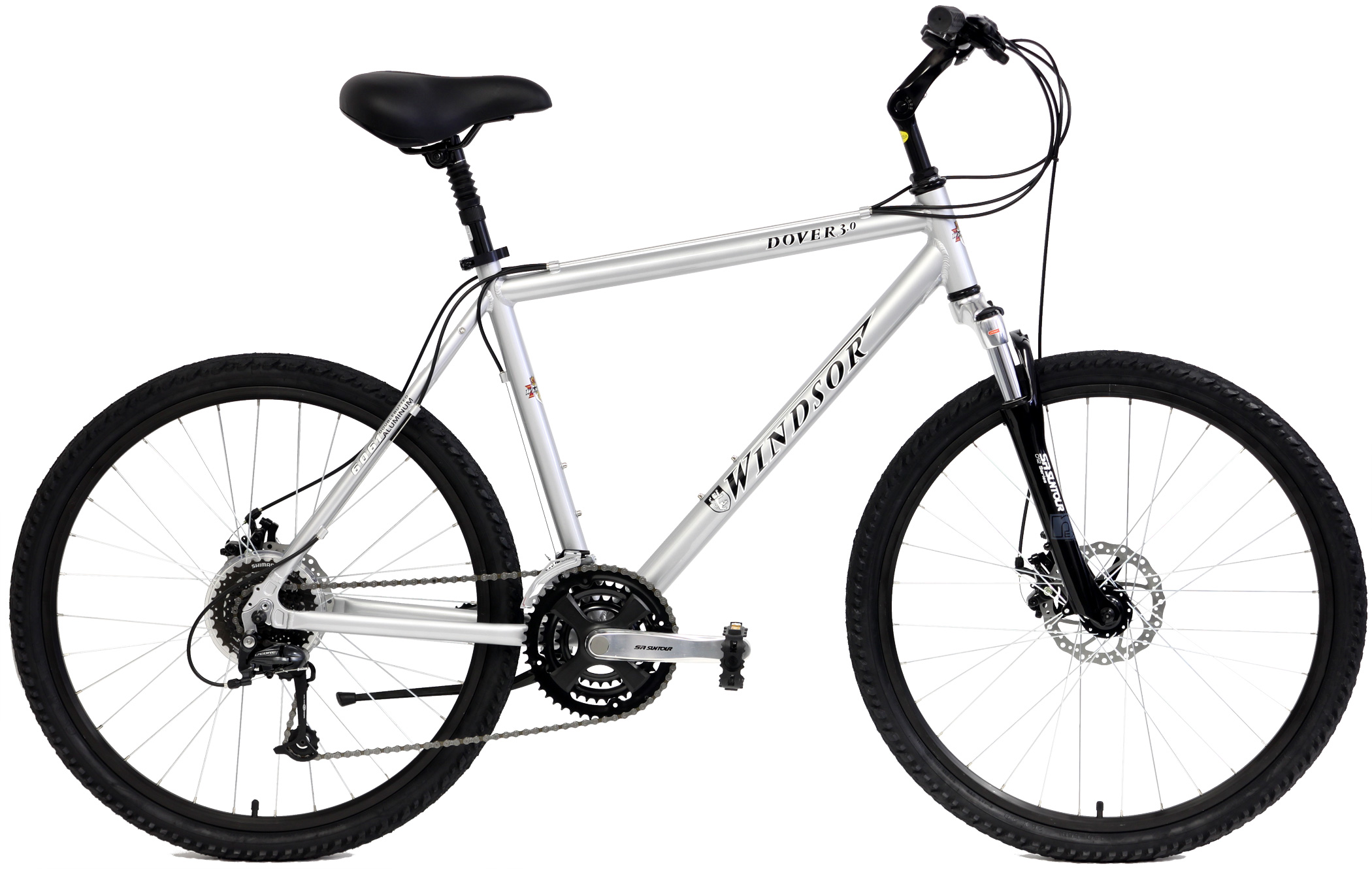 DOVER 3.0 - 24sp ALUMINUM COMFORT BIKE w/ SHOCKS & DISC BRAKES