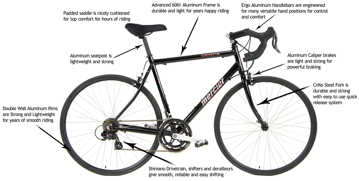 GALAXY AL SC-1      - SHIMANO 14sp ALUMINUM ROAD BIKE