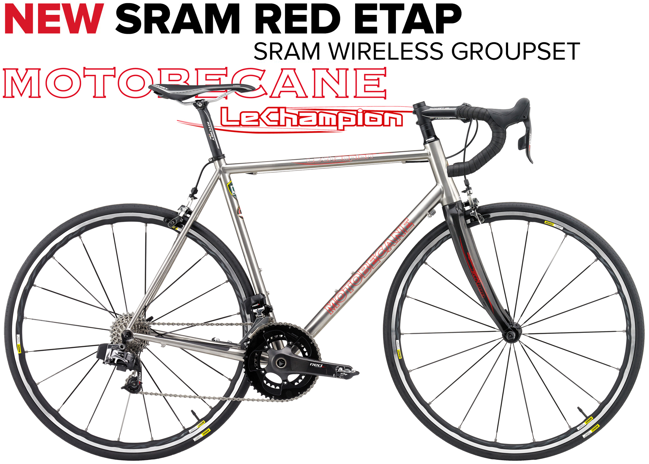 LeCHAMPION Ti INFERNO Ltd - SUPERLIGHT TITANIUM w/ SRAM RED eTAP SHIFTING