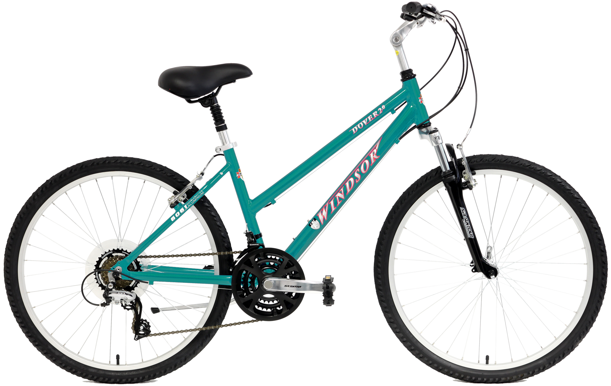 DOVER 2.0 - WOMAN'S SHIMANO ALUMINUM 21sp BIKE w/ SHOCKS