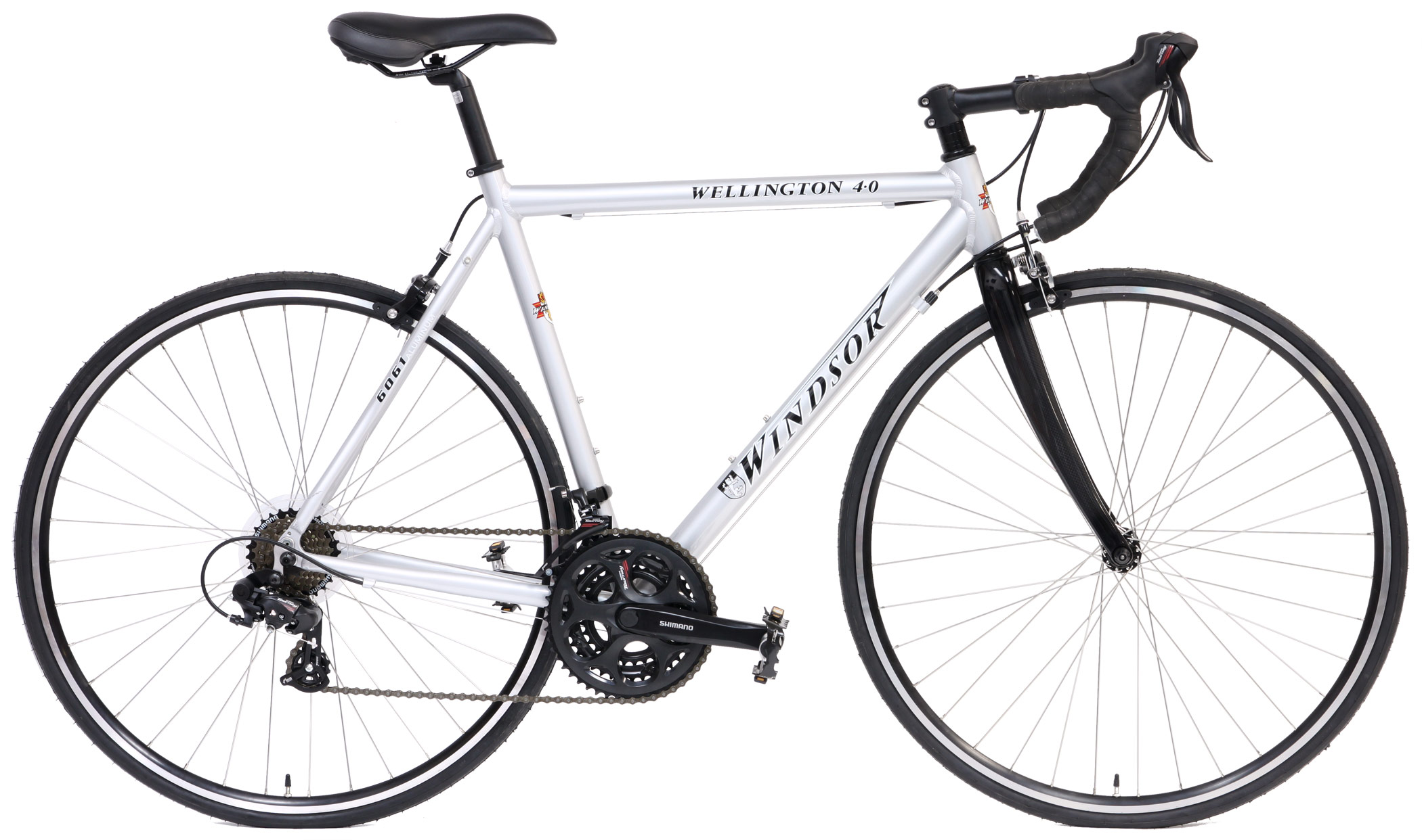 WELLINGTON 4.0 - SHIMANO 21sp ALUMINUM ROAD BIKE w/ CARBON
