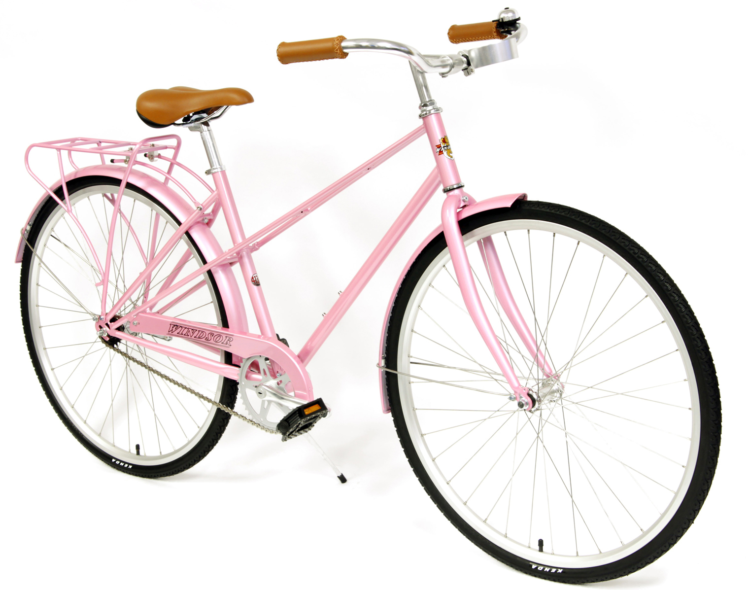 ESSEX DELUXE - WOMEN'S CHROMOLY 1 SPEED  w/ RACK &  FENDERS